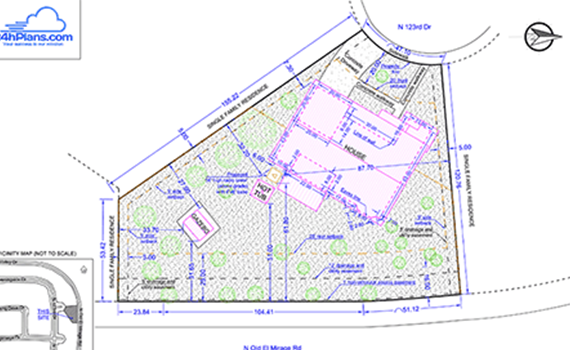 What Is A Site Plan Plus 12 Elements Of Plot Plan on House Plans With Detached Garage