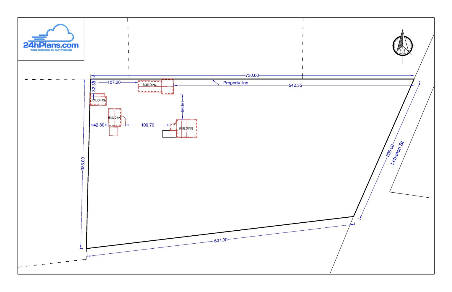 Simple design 24h site plans for building permits site for Site plan design