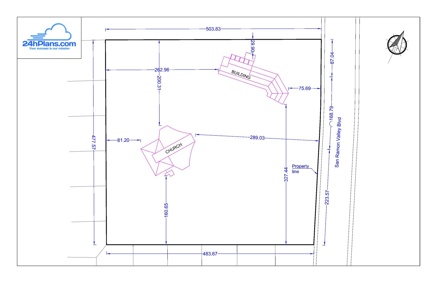 Simple design 24h site plans for building permits site for Site plan drawing online
