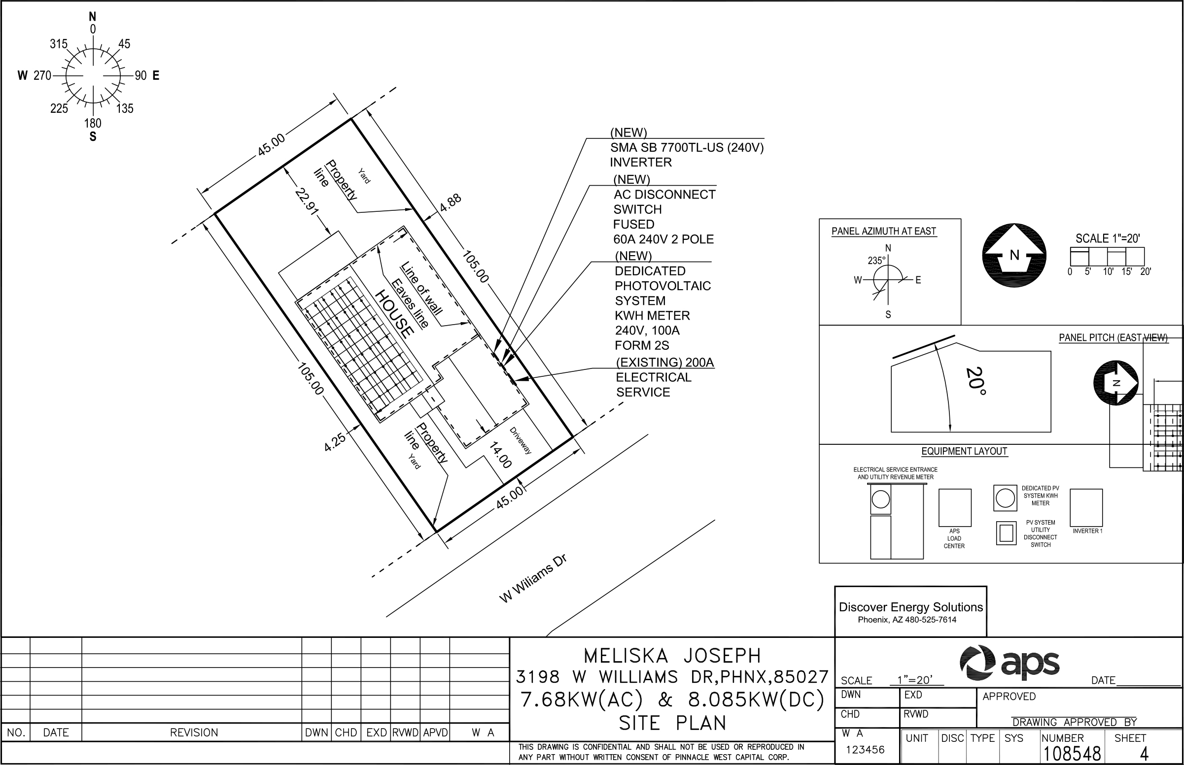 Solar panels design 24h site plans for building permits for Home site plan