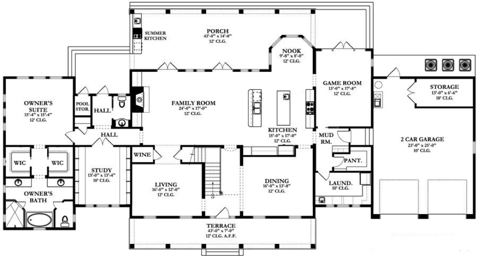 First floor plan Top 15 House Plans  Plus their Costs and Pros Cons of each
