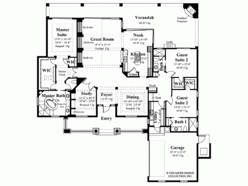 House plans with expansive rear views Rear view home plans
