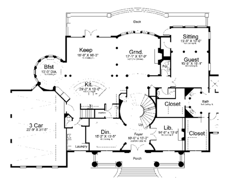 Main floor plan. Top 15 House Plans  Plus their Costs  and Pros   Cons of each