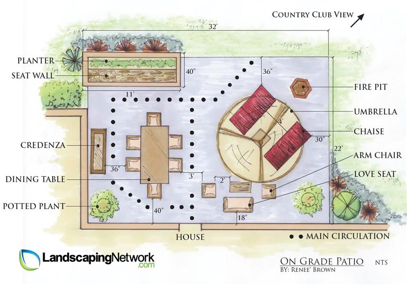 On Grade Patio Plan