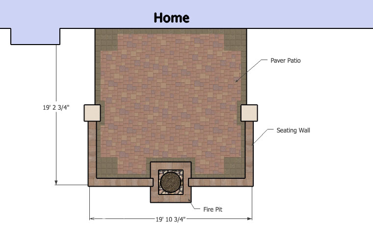 Patio Design With Fire Pit Plan