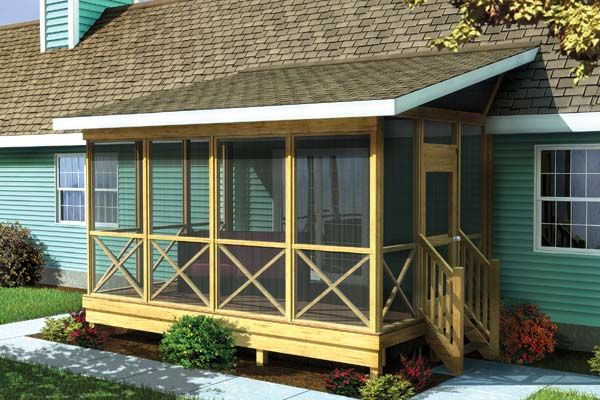 Top 20 porch and patio designs to improve your home 24h for Shed roof screened porch