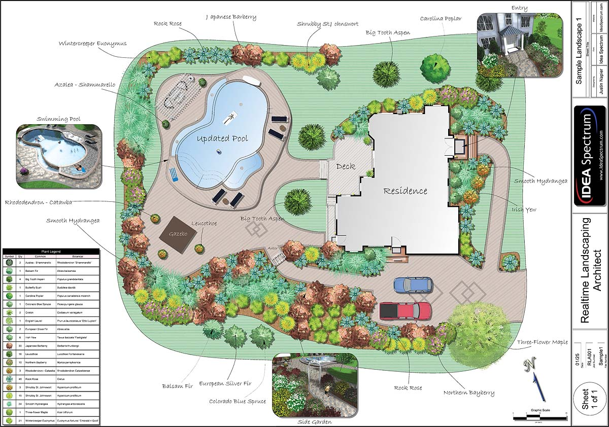 Top 20 landscape architecture designs and costs for Pool design blueprints