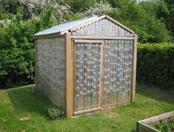 plastic bottle greenhouse via goods home design - Greenhouse Design Ideas
