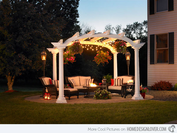 Arched Garden Pergola With Lighting