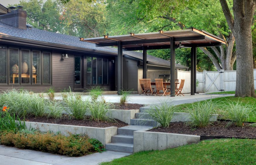 Top 20 Pergola Designs on mid century modern house plans atrium