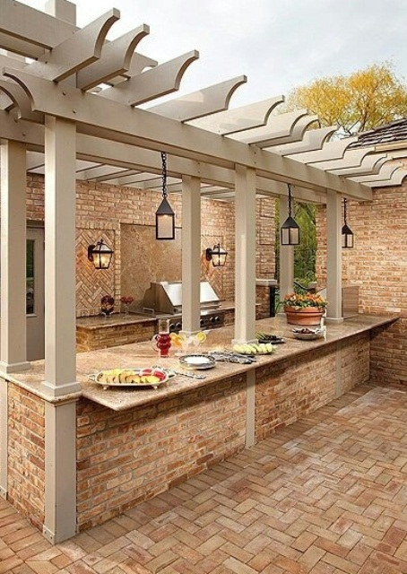 Top 15 outdoor kitchen designs and their costs 24h site for Outdoor kitchen wall ideas