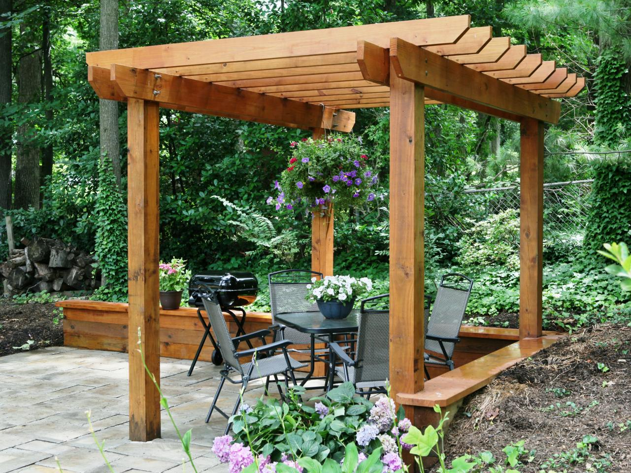 simple wood pergola - Arbor Designs Ideas