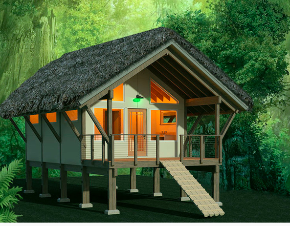 Jungle Shelter. Via House Plans