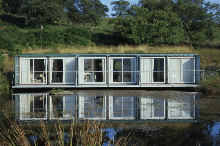 Container house on water