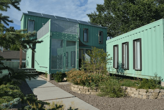 green shipping containers - Sea Container Home Designs