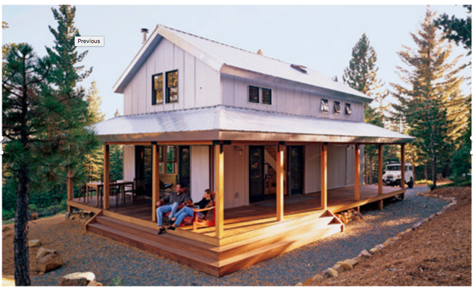 House Made Of SIPs. Via House Plans