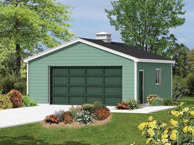 2-car garage with front entry