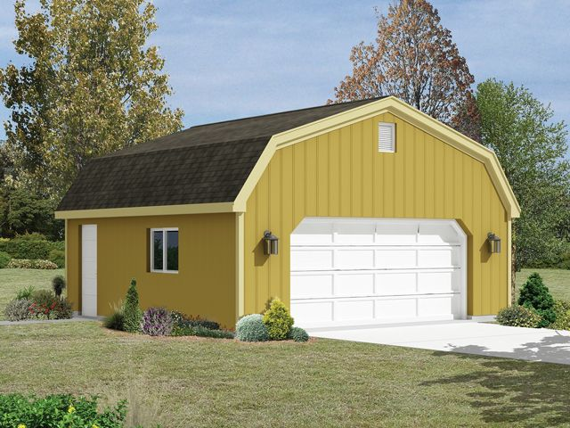2-car garage with gambrel roof