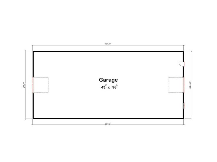 Drive-thru garage - plan