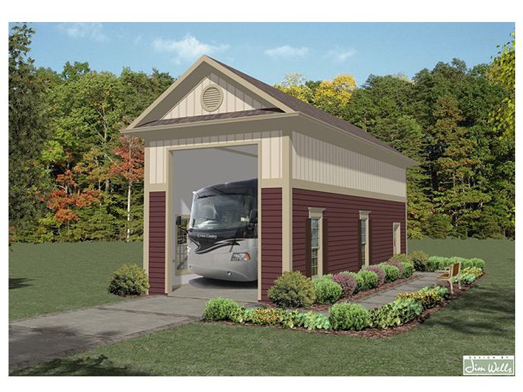 Top 15 garage designs and diy ideas plus their costs in for Rv garage plans with living space
