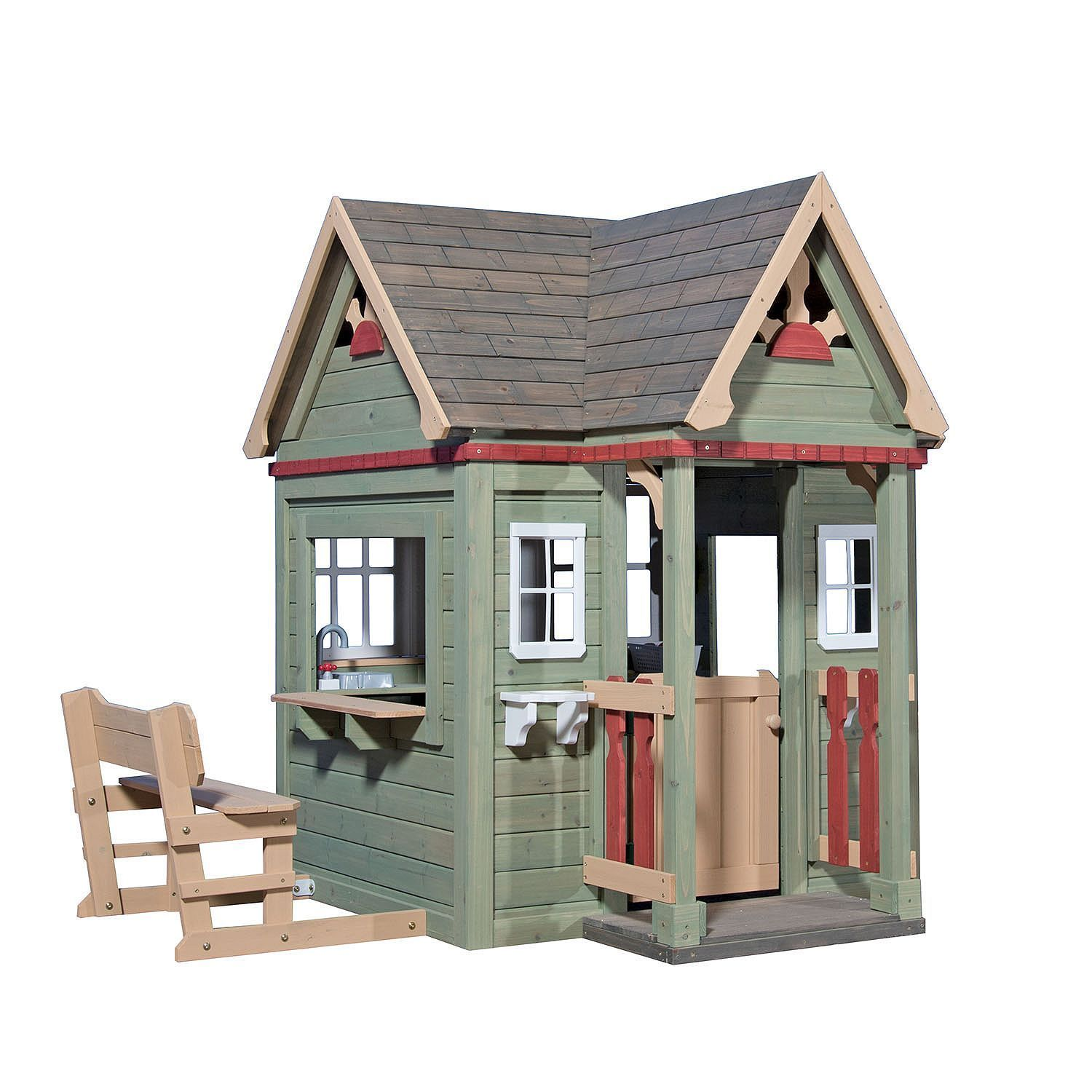 Top 20 Outdoor Playhouses for Kids, Plus their Costs Playhouse X With Loft Plans on barn style sheds with loft, yard sheds with loft, 16x20 cabin plan with loft, 14x16 cabin with a loft, one room cabin with loft, 12x12 cabin with sleeping loft,