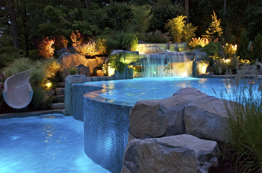 20 amazing in ground swimming pool designs plus costs 2017 for Custom swimming pool designs